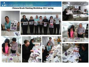 2017 spring Chinese Brush painting workshop at Artist Guild