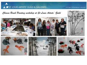Chinese brush painting workshop at St Louis Aritsts